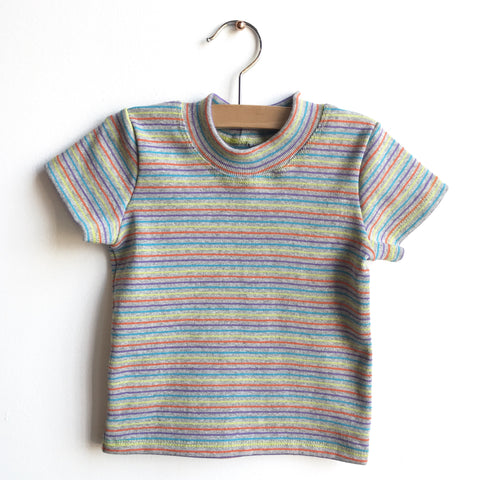 RETRO RAINBOW TEE - SHORT OR LONG SLEEVE