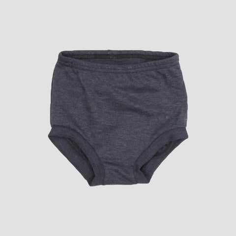 French Terry High Waist Shorties - Heathered Navy