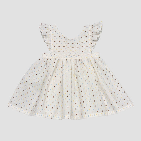 PIPPA PINAFORE - AUTUMN SWISS DOT - RTS/MTO