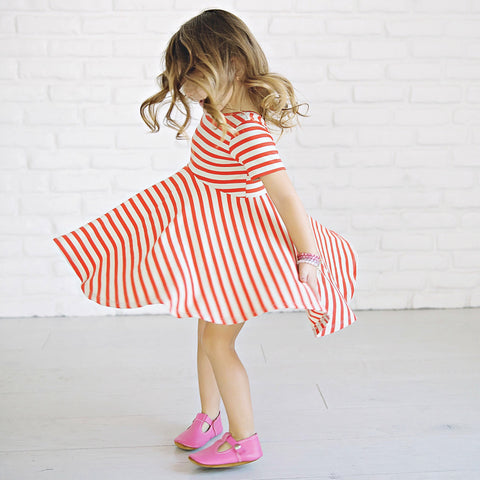 LUCCA TWIRL DRESS - STRIPES