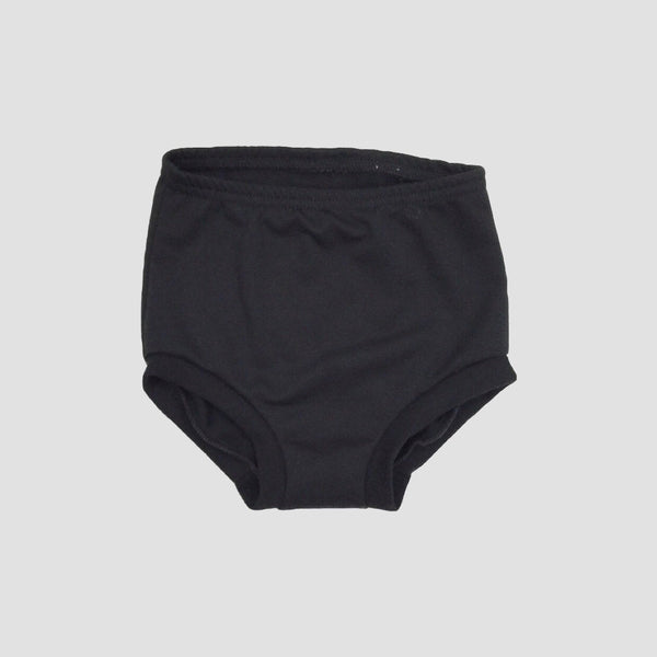 French Terry High Waist Shorties - Black