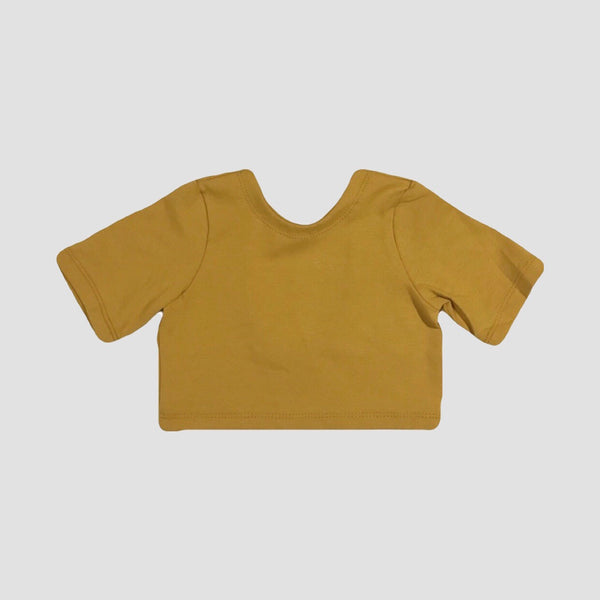 Katerina Scoop Back Top - Mustard