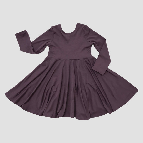 Bamboo Lucca Twirl Dress - Dusty Plum