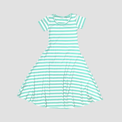 Nora Maxi Dress With Pockets - Mint Stripe