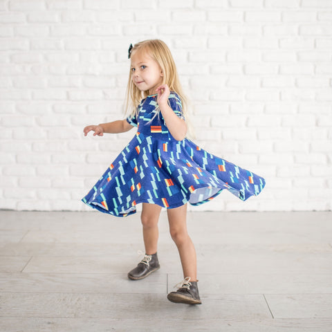LUCCA TWIRL DRESS - NAUTICAL
