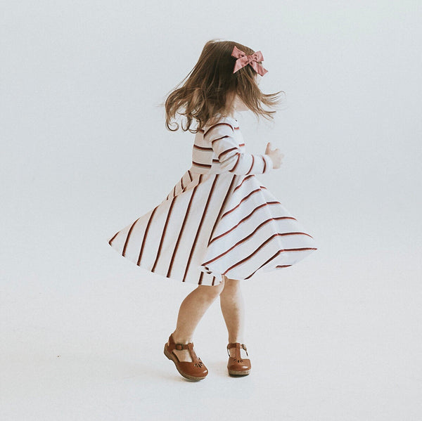 RETRO STRIPED LUCCA TWIRL DRESS