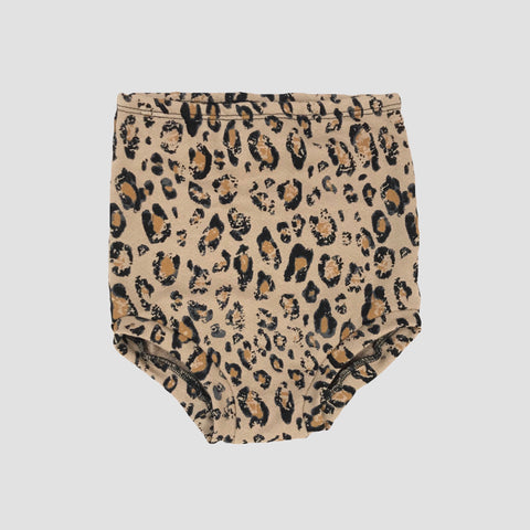 French Terry High Waist Shorties - Cheetah