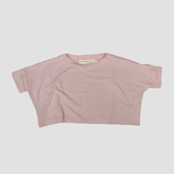 Bamboo Fawn Crop - Petal Pink - Short or Long Sleeve