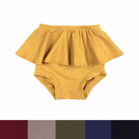 HIGH WAISTED RUFFLE SHORTIES - VARIOUS COLORS