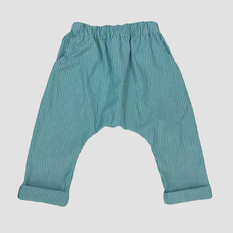 Tatum Unisex Trousers - Green & Aqua