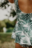 MAEVE PEPLUM PLAYSUIT - PALM LEAVES