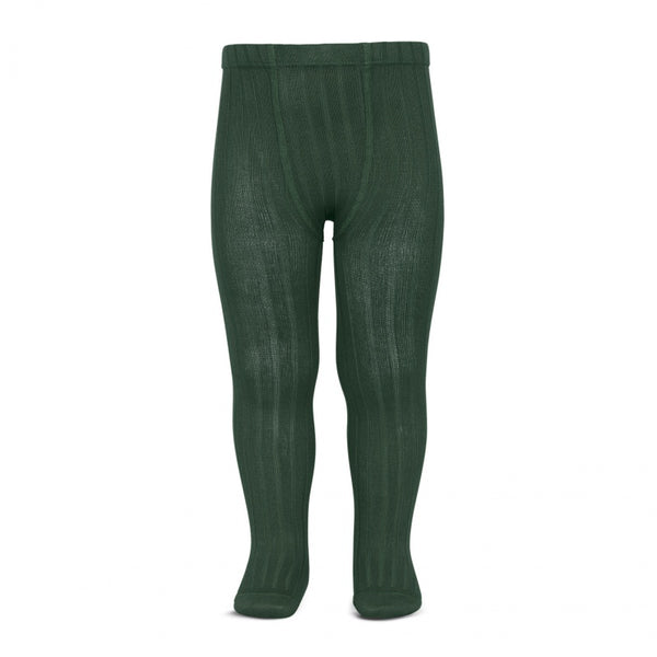 WIDE RIB TIGHTS - BOTTLE GREEN