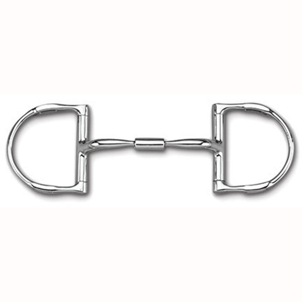DEE WITH HOOKS WITH STAINLESS STELL COMFORT SNAFFLE WIDE BARREL MB 02
