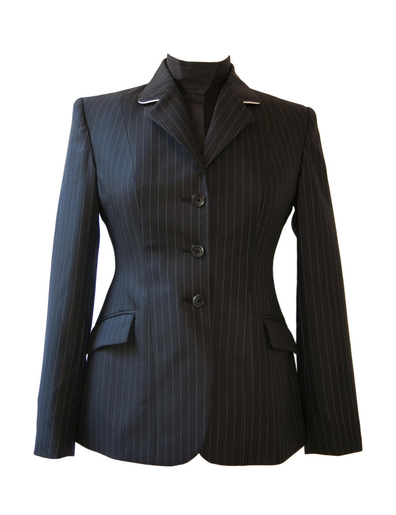 Show Jacket - Black with Pinstripe and Piping