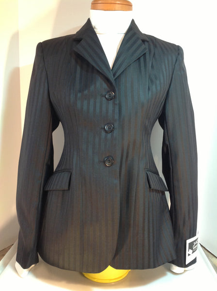 Show Jacket - Black with Blue Pin Stripe