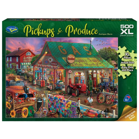 Pickups & Produce Puzzle 500pc XL - Antique Barn