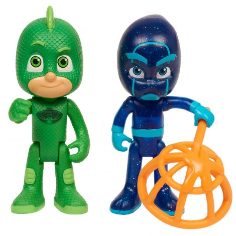 PJ Masks Light-up 2x pc Figure Pack - Gekko & Night Ninja