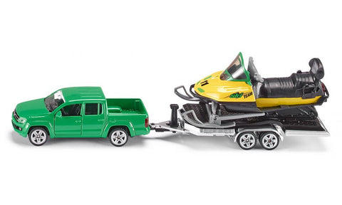 Siku VW Amarok w Trailer and Snow Mobile sku2548
