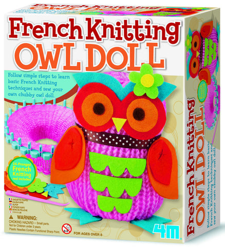 4M French Knitting Owl Doll 2764