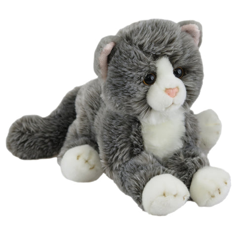 Soft Cats Grey Lying 36cm