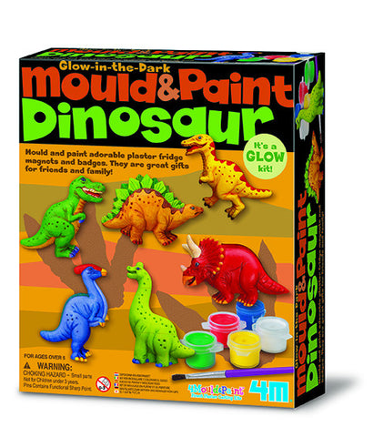 4M Mould & Paint Dinosaurs Glow in the Dark 3514ld