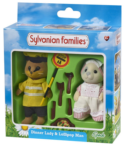Sylvanian Families Dinner Lady and Lollipop man 4418h