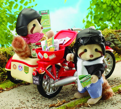 Sylvanian Families Motorcycle and Sidecar 4511