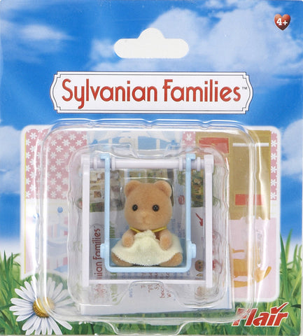 Sylvanian Families Bear Baby With Swing 4559