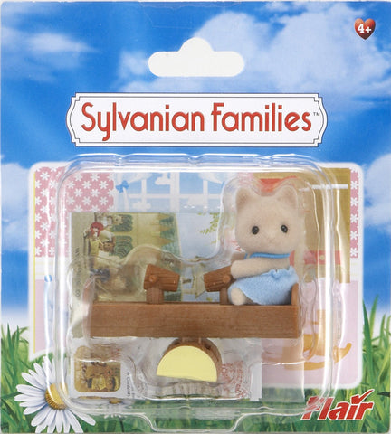 Sylvanian Families Cat Baby With See-Saw 4560