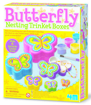 4M Butterfly Nesting Trinket Box 4664
