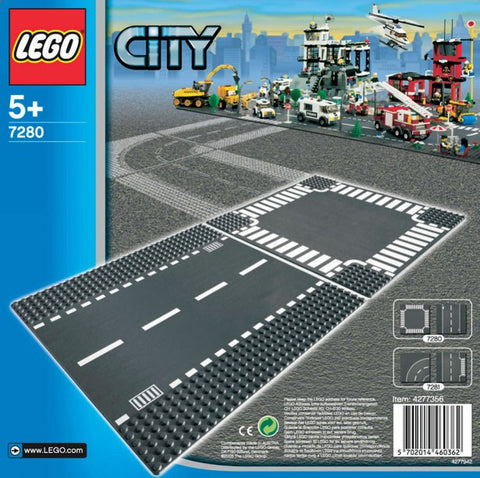 LEGO City Straight & Crossroad Bases - 7280