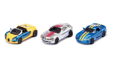 3 Piece Sports Car Set