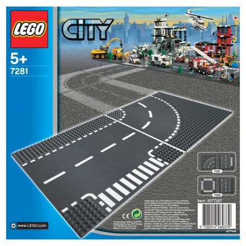 LEGO City T-junction & Curves Bases - 7281