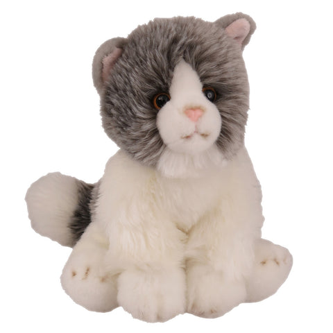 Antics Soft Cat Grey Sitting 20cm 77621