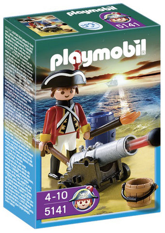 Playmobil Redcoat Guard with Cannon 905141