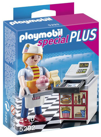 Playmobil Waitress with Cash Register 905292h