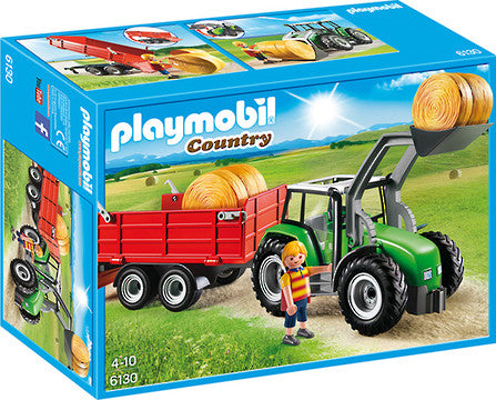Playmobil Large Tractor with Trailer - 6130 906130