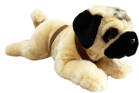 Pug Lying with Harness 35cm