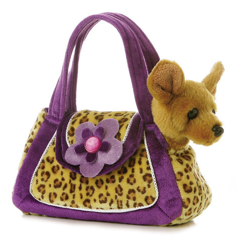 Fancy Pals Leopard Print Pet Carrier a32505