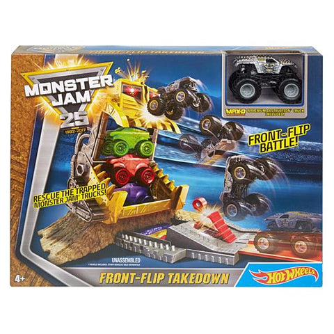 Hot Wheels Monster Jam Front-Flip Takedown Set