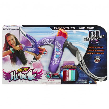 Nerf Nerf Rebelle Secrets and Spies - Strongheart Bow (Pink) b0913sa00