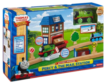 Thomas and Friends Wooden Railway Percy & The Mail Station y44813