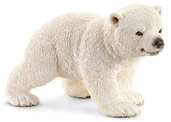 Schleich Polar Bear Cub, Walking sc14708