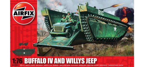 Airfix Buffalo IV and Willys Jeep a02302