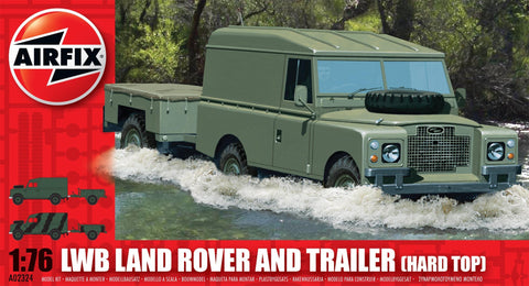 Airfix LWB Hard Top Land Rover and Trailer a02324