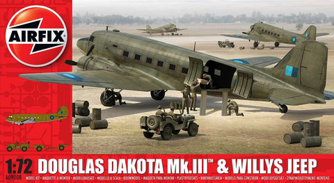 Airfix Douglas Dakota Mk.111 & Willys Jeep 1:72 209008