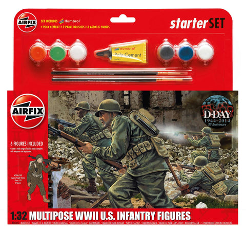 Airfix Multipose WW11 U.S. Infantry Figures 255212