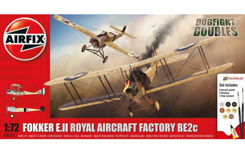 Airfix Fokker E.II Royal Aircraft Factory BE2C 250177