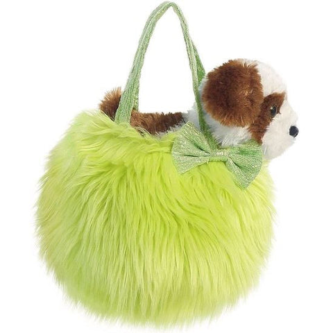 Fancy Pals Fluffy Green Pet Carrier a32779