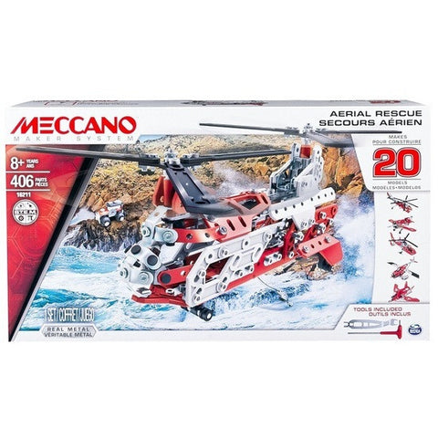 Meccano 20 Model Set - Aerial Rescue m8598